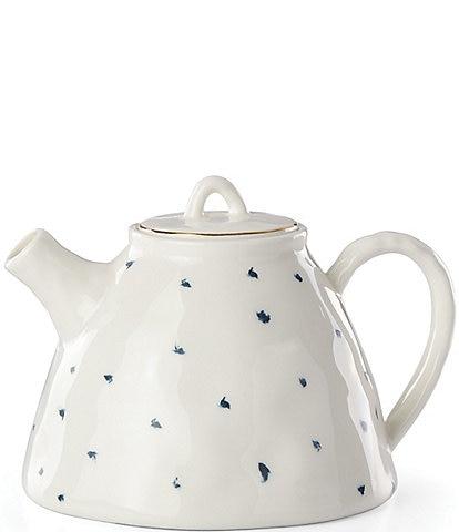 Lenox Blue Bay Polka Dot Teapot