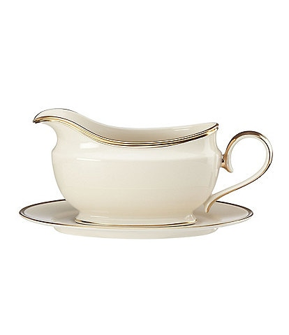 Lenox Eternal Ivory Gravy Boat With Stand