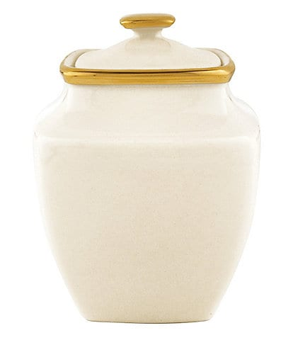 Lenox Eternal Ivory Square Sugar Bowl With Lid