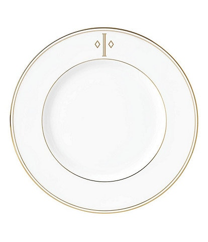 Lenox Federal Gold Block-Monogrammed Accent Plate