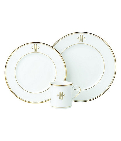 Lenox Federal Gold Block-Monogrammed China