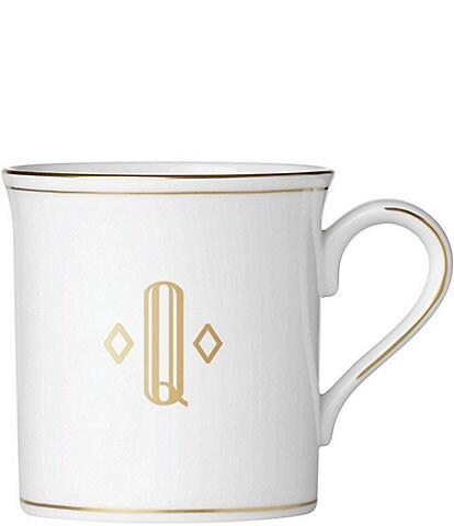 Lenox Federal Gold Block-Monogrammed Mug