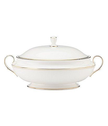 Lenox Federal Gold Bone China Covered Vegetable Bowl
