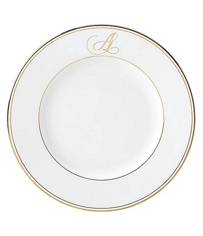 Lenox Federal Gold Script-Monogrammed Dinner Plate