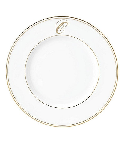 Lenox Federal Gold Script-Monogrammed Accent Plate