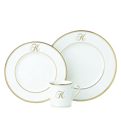 Lenox Federal Gold Script-Monogrammed China