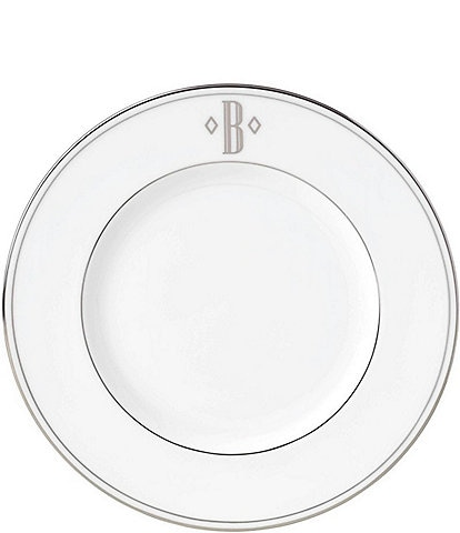 Lenox Federal Platinum Block-Monogrammed Accent Plate