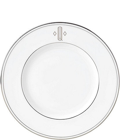 Lenox Federal Platinum Block-Monogrammed Accent Plate