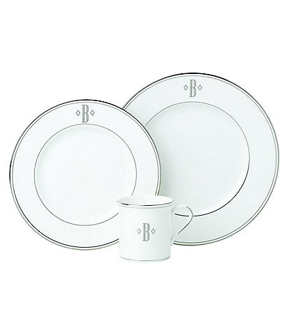 Lenox Federal Platinum Block-Monogrammed China
