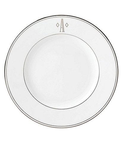 Lenox Federal Platinum Block-Monogrammed Dinner Plate