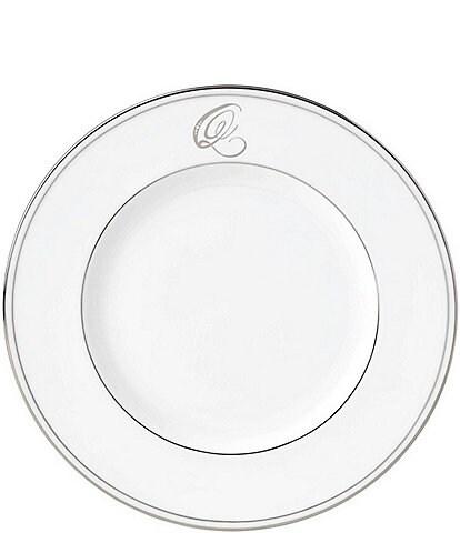 Lenox Federal Platinum Script-Monogrammed Accent Plate