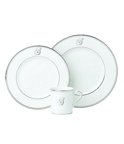 Lenox Federal Platinum Script-Monogrammed China