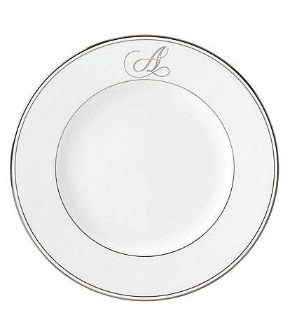 Lenox Federal Platinum Script-Monogrammed Dinner Plate