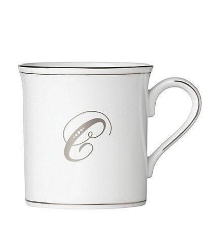 Lenox Federal Platinum Script-Monogrammed Mug
