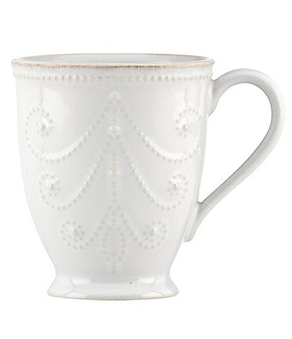 Lenox French Perle Scalloped Stoneware Mug