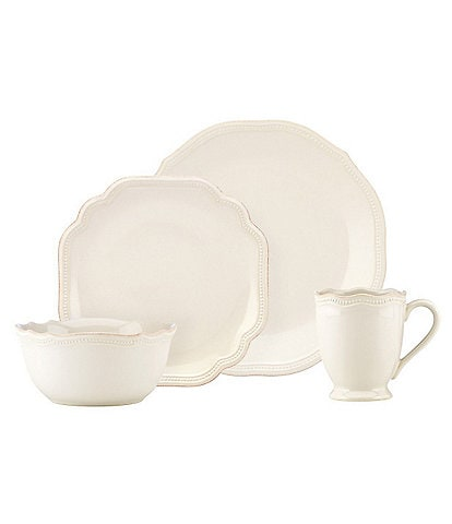 Lenox French Perle Bead Scalloped Stoneware Dinnerware