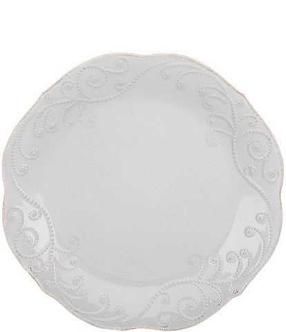Lenox 4-Piece French Perle Scalloped Stoneware Accent Plate Set