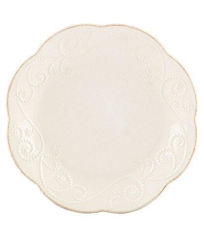 Lenox 4-Piece French Perle Scalloped Stoneware Dessert Plate Set