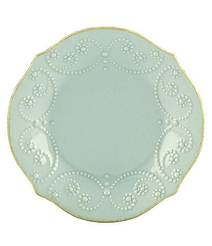 Lenox French Perle Scalloped Stoneware Tidbit Plate