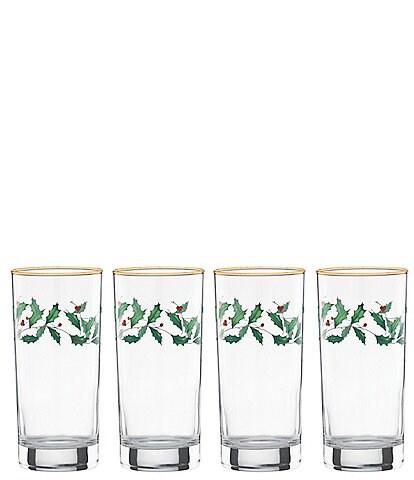 Lenox Holiday 4-Piece Highball Glass Set