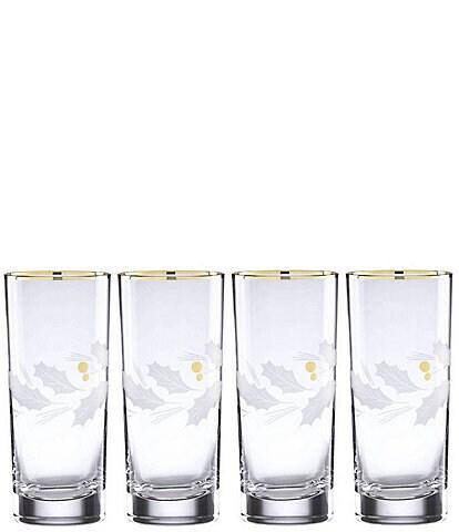 Lenox Holiday Gold 4-Piece Highball Glass Set