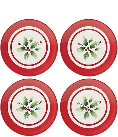 Lenox Holiday Handpainted Stripe Dessert Plates, Set of 4
