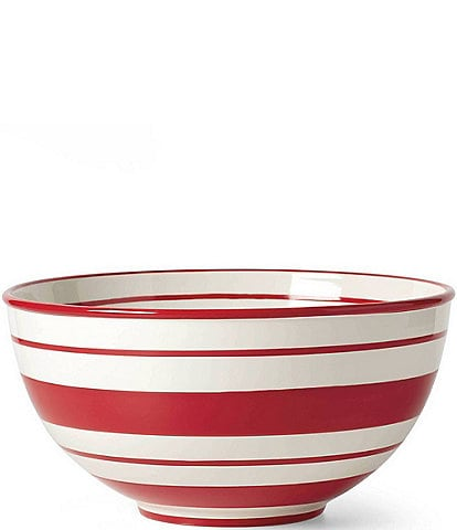 Lenox Holiday Handpainted Stripe Large Mixing Bowl