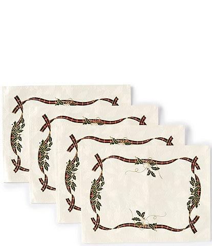 Lenox Holiday Nouveau Placemats, Set of 4