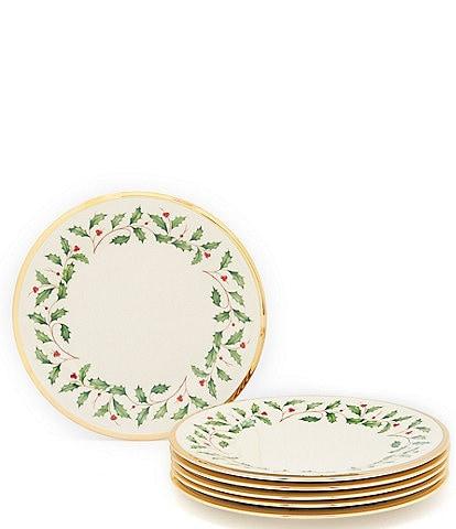 Lenox Holiday Salad Plates, Set of 6