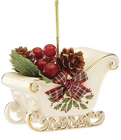 Lenox Holiday Sleigh Porcelain Ornament