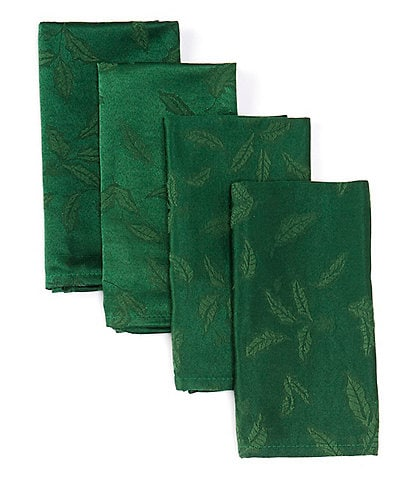 Lenox Holly Damask Green Napkins, Set of 4