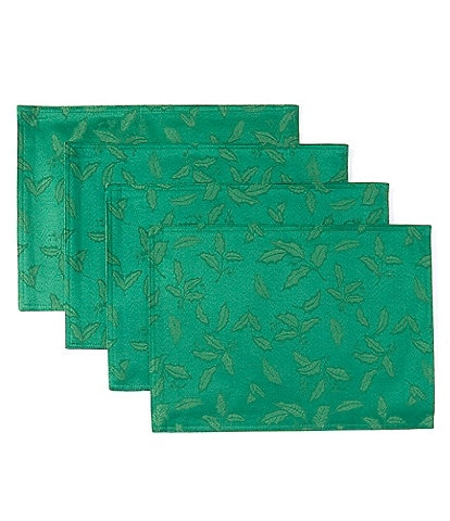 Lenox Holly Damask Green Placemats, Set of 4