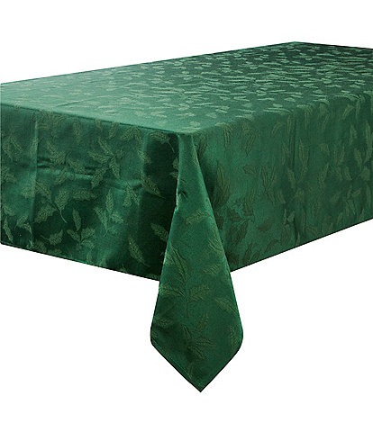 Lenox Holly Green Damask Table Linen