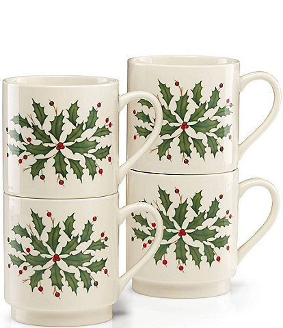 Lenox Hosting the Holidays 4-Piece Stackable Mug Set