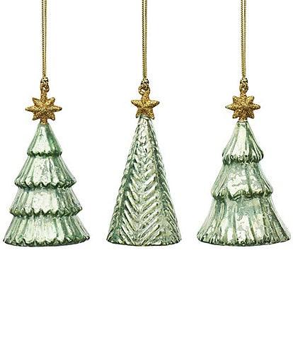 Lenox Mercury Glass Tree Ornaments, Set of 3