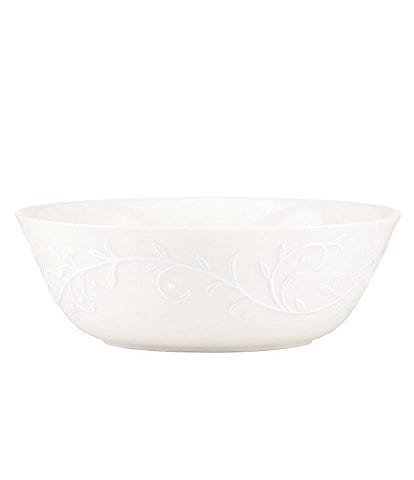 Lenox Opal Innocence Carved Scroll Porcelain 8#double; All-Purpose Bowl