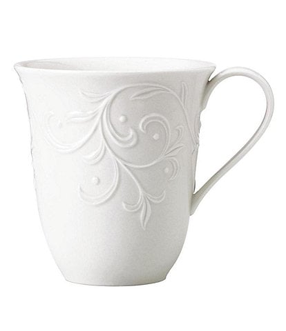 Lenox Opal Innocence Carved Scroll Porcelain 14-oz. Mug