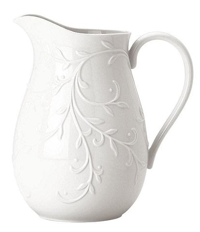 Lenox Opal Innocence Carved Scroll Porcelain Pitcher