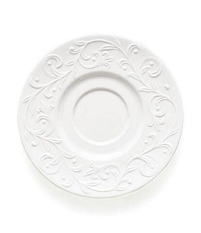 Lenox Opal Innocence Carved Vine Porcelain Saucer