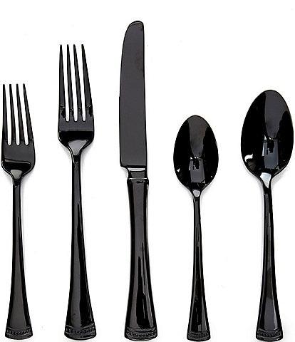 Lenox Portola Black 20-Piece Stainless Steel Flatware Set