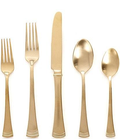 Lenox Portola Gold 20-Piece Stainless Steel Flatware Set