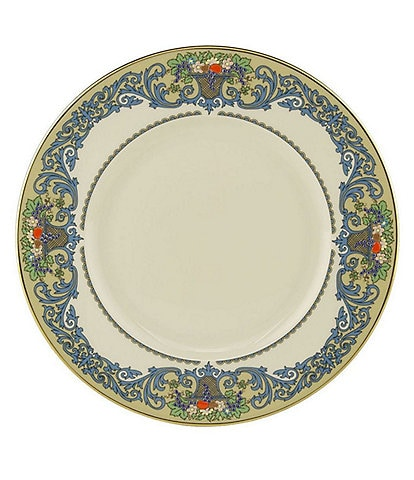Lenox Presidential Autumn Dotted Floral & Fruit Basket Accent Salad Plate