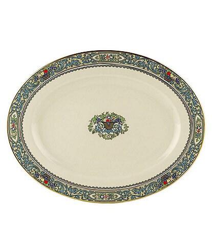 Lenox Presidential Collection Autumn Floral Fruit Basket Oval Platter