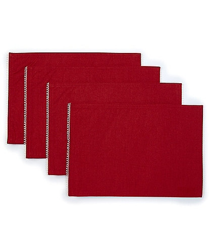 Lenox Red French Perle Placemats, Set of 4
