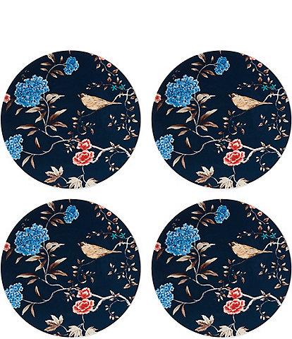 Lenox Sprig & Vine Navy Accent Plates, Set of 4
