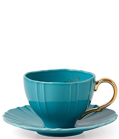 Lenox Sprig & Vine Turquoise Teacup and Saucer
