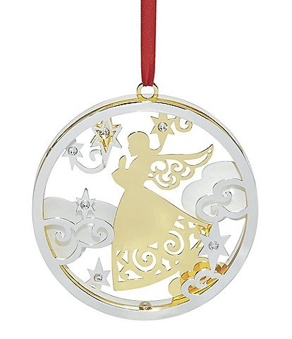 Lenox Stamped Angel Silver Ornament