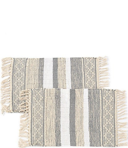 Lenox Textured Neutral Placemats, Set of 2