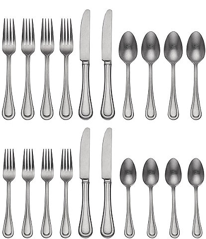 Lenox Textured Neutrals 20-Piece Stainless Steel Flatware Set