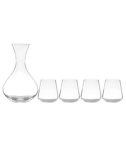 Lenox Tuscany 5-Piece Decanter with Stemless Wine Glass Set